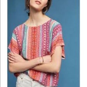 2/$59: Maeve for Anthro cute printed top NWOT